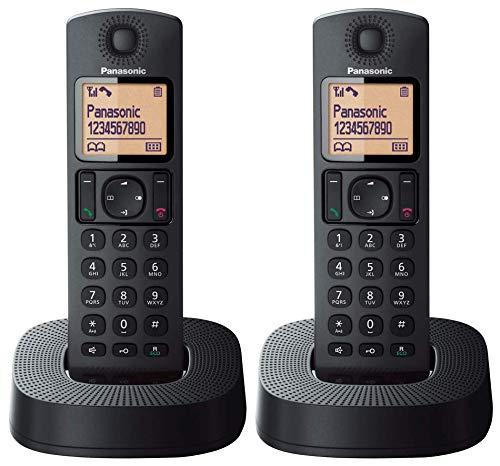 Oferta de Panasonic TGC312SPB- Teléfono Fijo Inalámbrico Dúo, LCD, Identificador de Llamadas, 16H Uso Continuo, Localizador, Agenda De 50 números, Bloqueo Llamada, Modo ECO, Reducción Ruido, color Negro