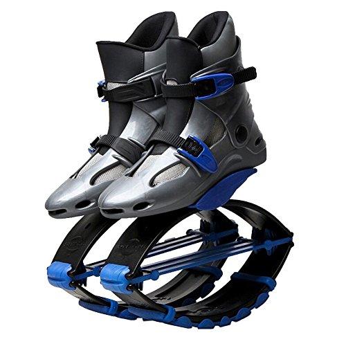 Byfjkkl Springende Schuhe Känguru Anti-Gravity Laufschuhe Bounce Schuh Sport Fitness Schuhe für Kinder Erwachsene,Blau,36~38