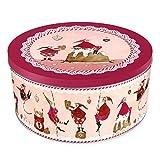 Bote para galletas de Grätz Verlag (Estilo retro–Lata para galletas, redonda, color rojo, para almacenaje, aprox. 10,5 cm de alto)