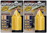 painting cones - 2-PACK - Painter's Pyramid Stands, Yellow