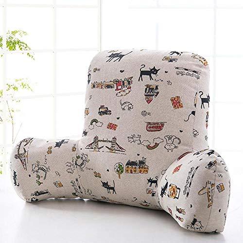 pillow Cómodo cojín de cintura para sofá, oficina, oficina, mesita de noche, cojín para la cintura, cojín para la cintura, silla de coche, almohadilla suave (color: #3, tamaño: 65 x 40 x 26 cm)