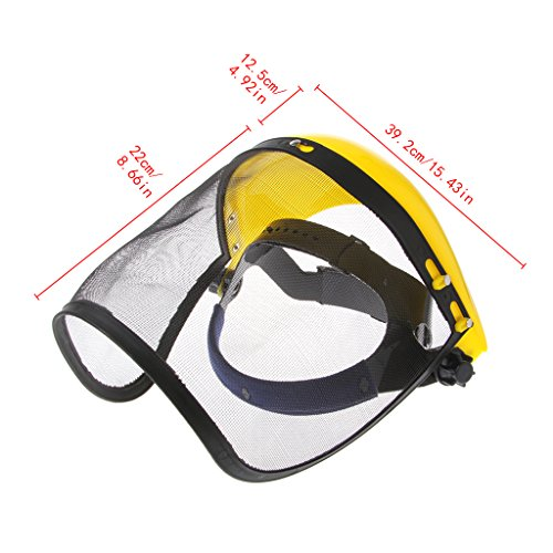 PENG Face Shield Mesh Visor Browguard Ideal para desbrozadora Trimmer Strimmer Shield