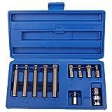 11 Unids/set Juego de llaves de lote de estrella Dodecágono interior Juego de herramientas de combinación multifuncional Kits de herramientas de mano para el hogar del coche