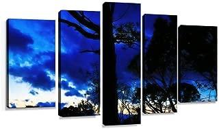 背景 木 夕 雲 グラデーション 雨雲 碧 林 森 自然 空 風景 青 ブルー 蒼 森林 山 樹木 バックグラウンド キャンバスアート アートボード 壁掛け装飾 おしゃれ 部屋飾り インテリアパネル 絵画 ポスター 木枠付きの完成品