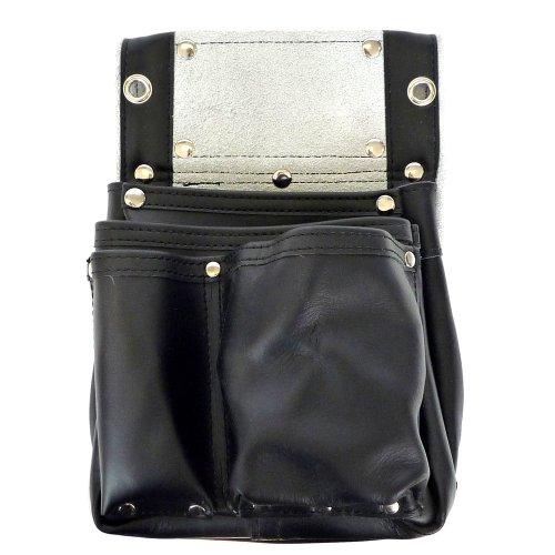 こま 黒エバ−スキン 釘袋2段マチ付 KK−30