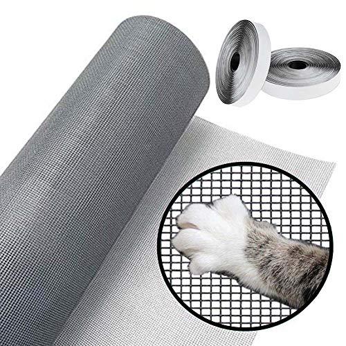 YINN Reißfestes Katzensicherheitsnetz, langlebiges Fiberglas-Fenstergitter, Katzennetz, Schutz für Fenster, Netz, Ersatz gegen Insekten, Fliegennetz, zuschneidbar