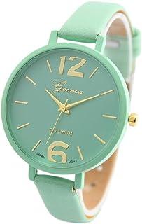 f6e8e6677a Shocknshop Geneva Faux Leather Strap Analogue Quartz Movement Wrist Watch  For Girl's & Women-Multicolor