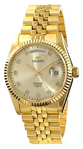 ORIENT 'President' Classic Automatic Sapphire Gold Watch EV0J001G