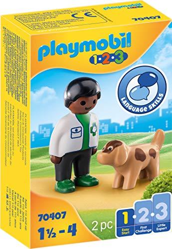 PLAYMOBIL 1.2.3 70407 Veterinario con Perro
