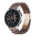 YaYuu 22mm Résine Bracelet de Montre Samsung Galaxy Watch 46mm poidsléger Bande de Remplacement Sangle pour Gear S3...