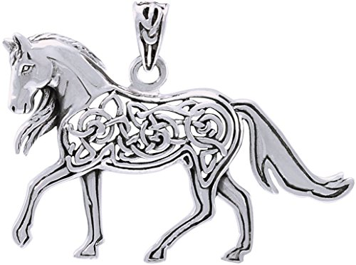 Jewelry Trends Sterling Silver Celtic Horse Pendant