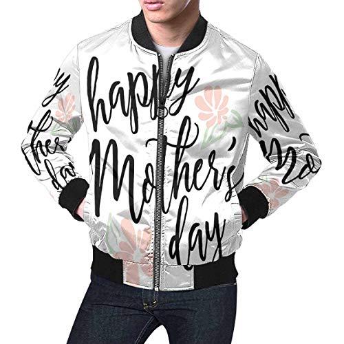 INTERESTPRINT Men's Lightweight Jacket Windbreaker Happy Mothers Day Holiday I Love You, The Best Mom S