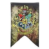 Multiculture Hogwarts Banner Flagge Gryffindor Ravenclaw Hufflepuff Slytherin Deco (Horgwarts)