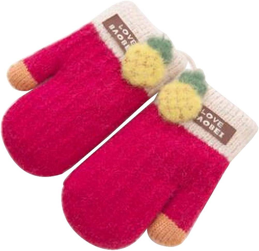 Lovely Knitted Baby Mittens Warm Winter Children Mittens Baby Gloves #19