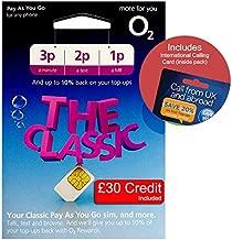 O2 (2G/3G/4G) UK & Europe Trio SIM PAYG £30 (Convert to Bundle - 20GB Data, 3000 mins, 3000 Texts) + International Calling Card - (Love2surf Retail Pack)