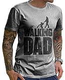 Stylotex Lustiges Herren Männer T-Shirt Basic | The Walking Dad | Geschenk für werdende Papas,...