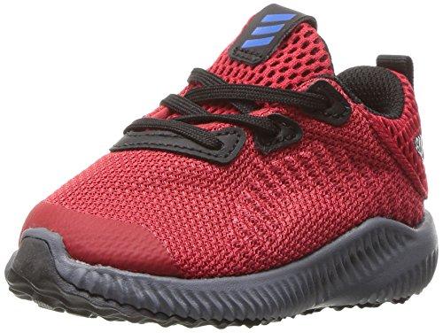 adidas Kids' Alphabounce Running Shoe, Scarlet/Satellite/Black, 12 M US Little Kid