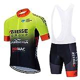 Hombre Ropa Equipacion Traje Ciclismo para Verano, Maillot Ciclismo Verano+Culotte Ciclismo Culote Bicicleta