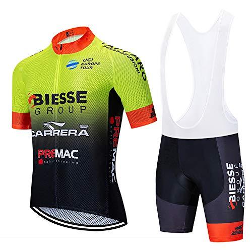 Hombre Ropa Equipacion Traje Ciclismo para Verano, Maillot Ciclismo Verano+Culotte Ciclismo Culote...