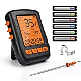 HENMI Digital Barbecue Thermometer Bluetooth Roast Thermometer Grill Thermometer Wireless Kitchen Alarm Meat