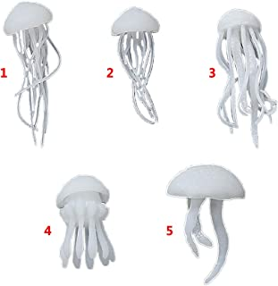 liumiKK 5 Pcs/set Crystal Epoxy Ocean Jellyfish Modeling Filler DIY Crafts Filling Supplies UV Accessories Decoration Materials