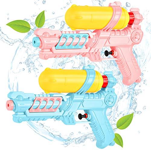 EKKONG Pistole ad Acqua Giocattolo, Potente Pistola ad Acqua, Pistola ad Acqua Piccola, Acqua Giocattolo Estivi All'aperto per Divertimento, Bambini e Adulto (2 PCS)