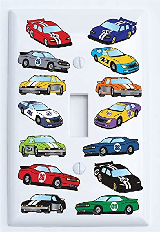 Stock Race Car Light Switch Plate Covers Single Toggle Race Car Room Decor Single Toggle Switch Plate