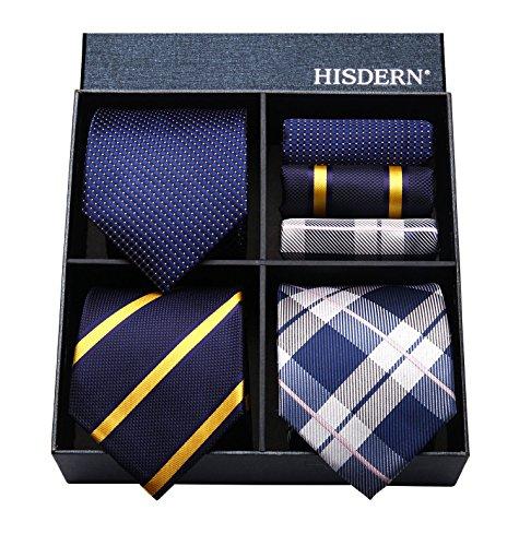 ヒスデン ネイビー ネクタイ 3本セット 結婚式 青 ネクタイ ハンカチ メンズ おしゃれ ネクタイ セットビジネス ビジネス ネクタイ ブランド プレゼント 男性