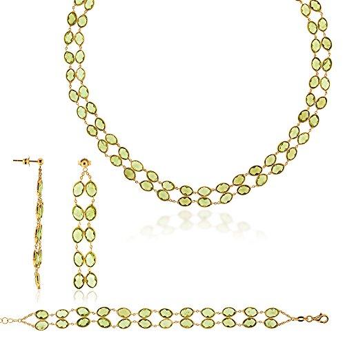 Gioiello Italiano 750 Gold oro amarillo 18 quilates (750) Peridoto/Olivino