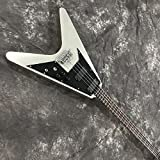 guitar V Shaped Electric Bass Metallic Silver Gray The Guitar Acoustic Guitar Strings Steel String Guitar acoustic guitar Hyococ (Color : A, Size : 39 inches)