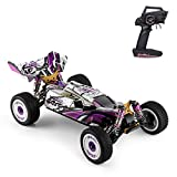 GoolRC WLtoys 124019 RC Car, 1/12 Scale 2.4GHz Remote Control Car, 4WD 60km/h High Speed Racing Car, Off-Road Buggy Drift Car RTR with Aluminum Alloy Chassis, Zinc Alloy Gear and 1 Battery