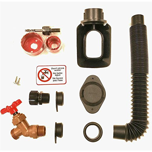 EarthMinded DIY Rain Barrel Diverter Kit - Water Barrel / Rain Barrel Adapter Kit, Includes Spigot and Downspout Diverter For 3 x 4 Inch Downspouts - F-RN097