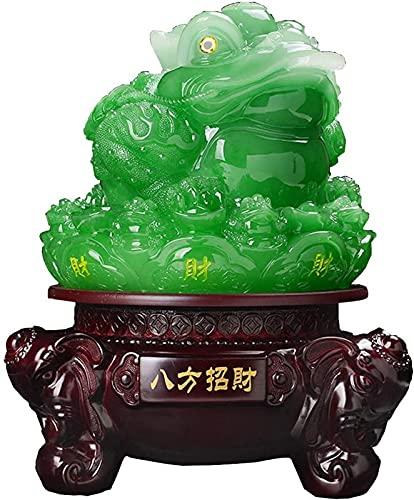 JJDSN Estatua de la Rana del Dinero del Ornamento de Feng Shui (Rana de la Riqueza de Tres Patas o Sapo del Dinero) Decoracin de Las Figuras, atrae la Riqueza y la Buena Suerte