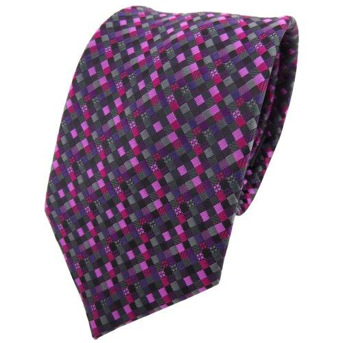 TigerTie - Corbata - morado magenta rosa negro antracita gris modelada