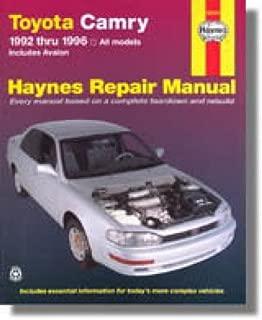 H92006 Haynes Toyota Camry Avalon 1992-1996 Auto Repair Manual