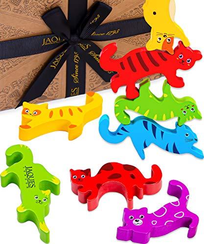 Jaques von London Lassen Sie Uns stapelbare verrückte Katzen Spielen holzspielzeug Tiere – Kinder Spielzeug stapeltiere Holz – Ideal Holz Spielzeug 2 3 4 5 6 Jahre seit 1795