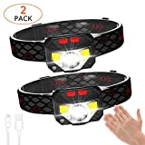 Best Rechargeable Headlamps - 2-Pack LED Rechargeable Headlamp Flashlight, USB Head Torch Review
