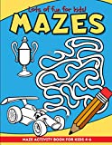Mazes: Maze Puzzles and Coloring Book for Kids Ages 4-6 | Sky Blue (Mazes for Kids)