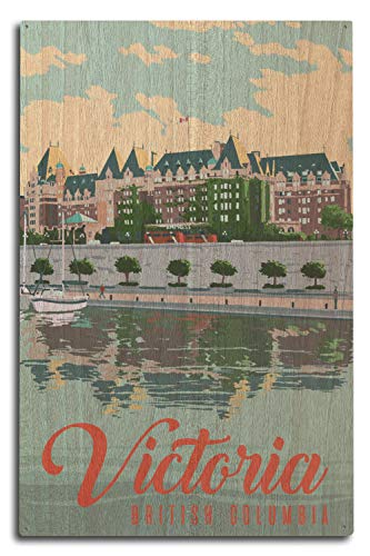Victoria, British Columbia, Canada - The Empress Hotel 97151 (10x15 Wood Wall Sign, Wall Decor Ready to Hang)