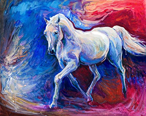 CZWSLS 1000 Piece Jigsaw Puzzles for Adults, Puzzles for Kids Educational Toys Game Jigsaw Puzzles 1000 Piece -A horse
