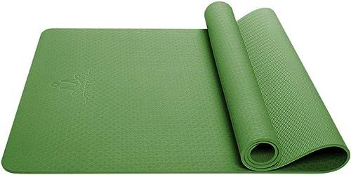 HBJP Tapis de Yoga allongeant Large 80CM Tapis de Yoga TPE Body Line Tapis de Yoga épaississement antidérapant Tapis de Fitness pour débutant Tapis de Yoga (Couleur   D, Taille   6mm)