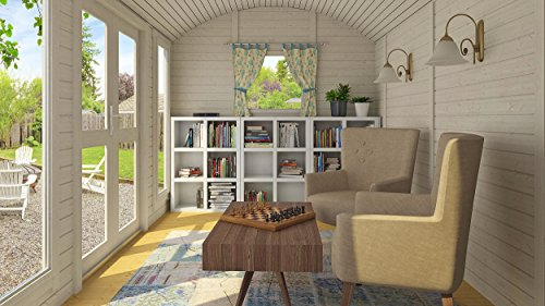 Allwood Mayflower Base   117 SQF Garden House, Cabin Kit 4 Unique style. Focal point of any garden. Total floor area 117 SQF Structures on wheels are except from permits in most states