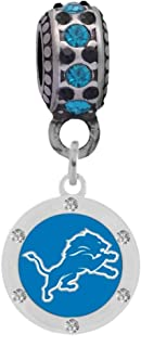 Final Touch Gifts Lions Crystal Charm Compatible with Pandora Style Bracelets. Can Also be Worn as a Necklace (Included.)