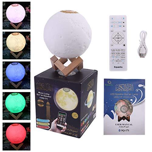 PING Quran Bluetooth Lautsprecher Mondlampe mit Unterstützung Regal APP Steuerung Nachtlicht mit Koran Rezitation Übersetzung Lautsprecher Muslimisches Geschenk