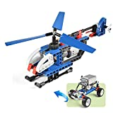 STEM Building Blocks, 2 in 1 Building Bricks Off-Road Truck Helicopter, Education Building Kit Toys for Kids Age 6+