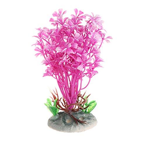 Ruda Aquatische Pflanzen Rosa Meer Blume Künstliche Aquarium Vorgrund Dekoration