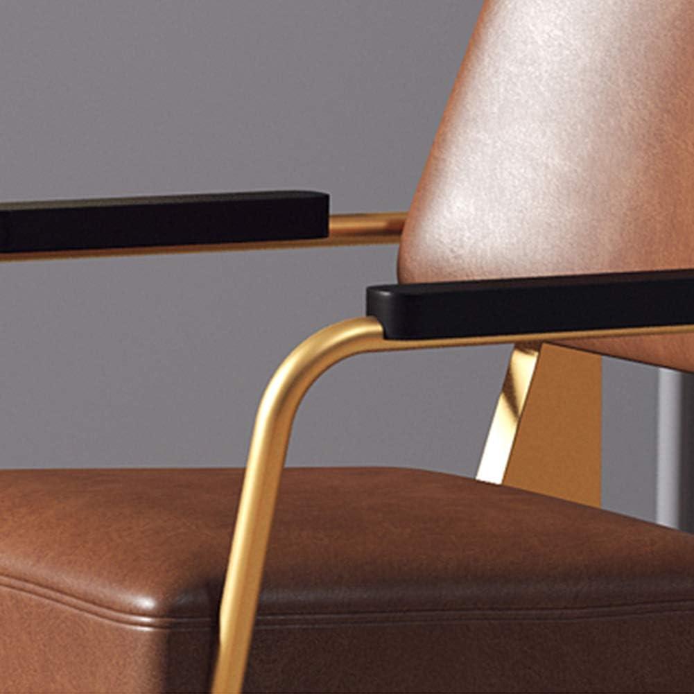 AP.DISHU Style Industriel Faux Cuir Fauteuils Chaises De Salle À Manger Chaises De Bureau Chaises De Réception Chaises De Restaurant Chaises De Salle De Réunion,Gris Brown