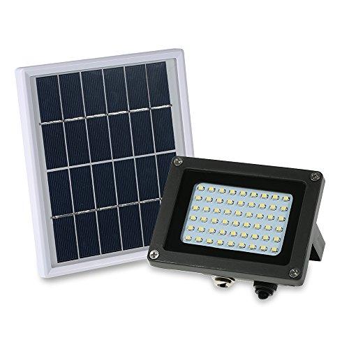 Lixada Solarbetriebenes Flutlicht 54 LED Solarleuchten IP65 wasserdichte Außen-Sicherheitsleuchten für Haus, Garten, Rasen