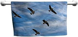 Baby Bath Towel Geese,Flock of Canada Birds Spring,Beach Towel for Men