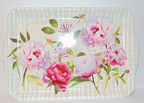 Keller Charles Melamine Floral Peony Honeysuckle Serving Tray 13 x 9''